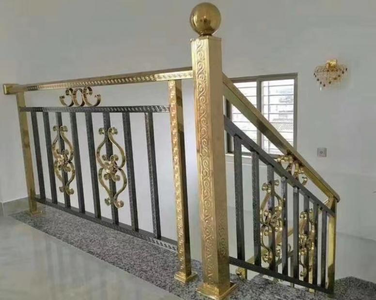 彩色不锈钢楼梯扶手 护栏