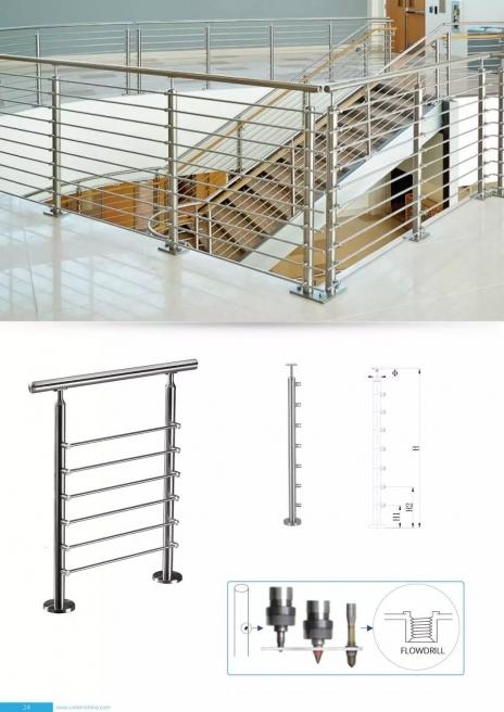不锈钢楼梯立柱加工