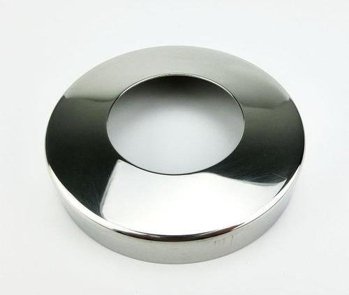 定制201-304不锈钢装饰盖扶手楼梯立柱圆管盖平面镜面